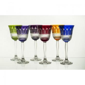 Kieliszki kryształowe do wina - 6 kolorów 170ml