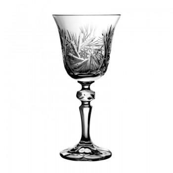 Kieliszki kryształowe do wina - 6szt - uczta