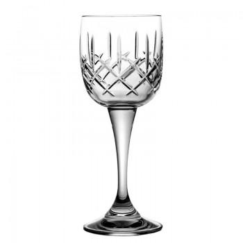 Kieliszki kryształowe do wina - szlif orginalny