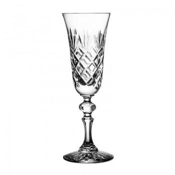 Kieliszki kryształowe do szampana 6 szt - ananas