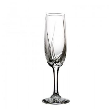 Kieliszki kryształowe do szampana 6 szt