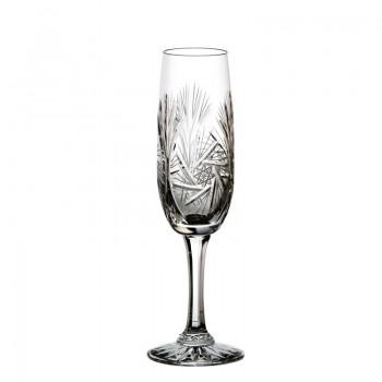 Kieliszki kryształowe do szampana 6 szt - młynek