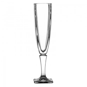 Kieliszki kryształowe do szampana 6 szt - orginalne