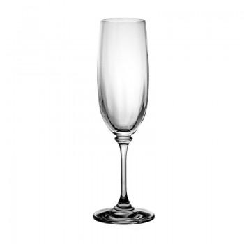 Kieliszki kryształowe do szampana 6 szt - eleganckie