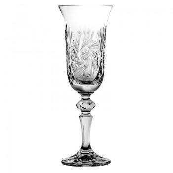 Kryształowe kieliszki  do szampana 6 szt - młynek