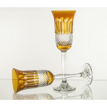 Kieliszki do szampana w kolorze - 6 sztuk