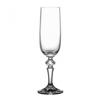 Kieliszki kryształowe do szampana - 6 szt - SMUKŁE