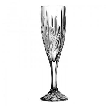 Kryształowe kieliszki do szampana 6 szt 180ml