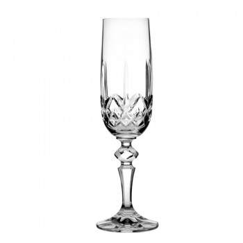 Kieliszki kryształowe do szampana 6szt 180ml