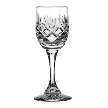 Kryształowe kieliszki do likieru - 6szt