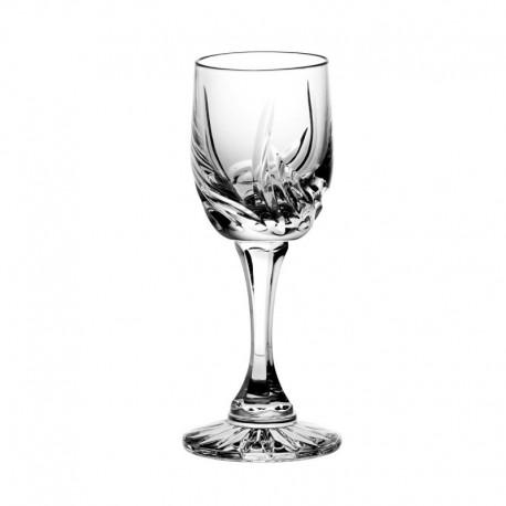 Kieliszki kryształowe do likieru - 6szt - szlif cebulka