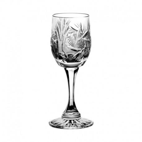 Kryształowe kieliszki do likieru - 6szt - szlif młynek