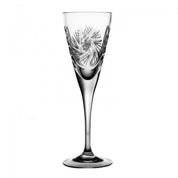 Kieliszki kryształowe do likieru - 6szt - eleganckie