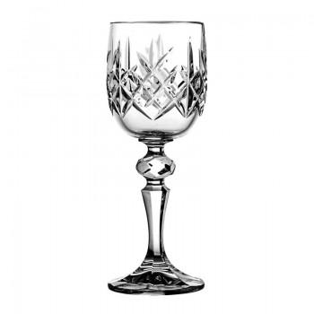 Kieliszki do likieru kryształowe - 6 sztuk