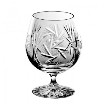 Kryształowe kieliszki  do koniaku - 6szt