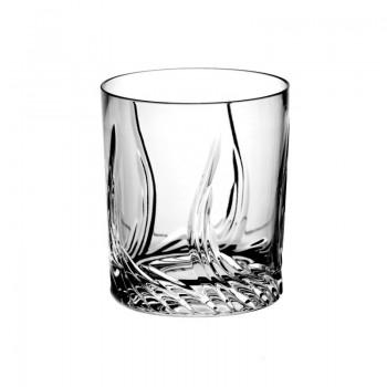 Szklanki kryształowe do whisky - 6szt - szlif cebulka
