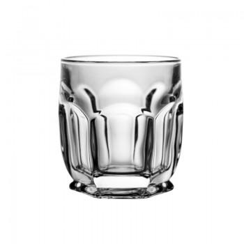Szklanki kryształowe do whisky - 6szt - beczułki