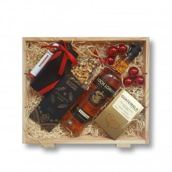 Zestaw świąteczny z whisky Loch Lomond
