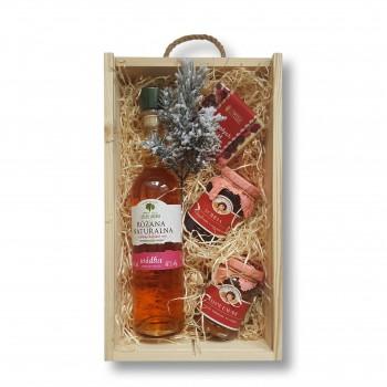 Zestaw świąteczny z wódką Różana Naturalna