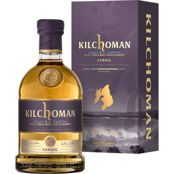 KILCHOMAN SINGLE MALT MACHIR BAY + 2 SZKLANKI GLENCAIRN