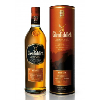 Glenfiddich 14 year Rich Oak w tubie 0,7l