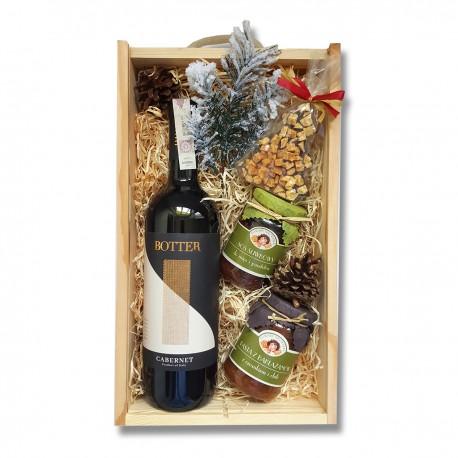 Zestaw upominkowy z wytrawnym, czerownym winem