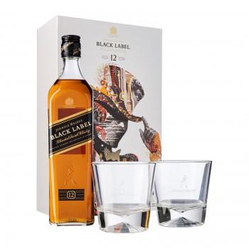 Johnnie Walker Black Label 0,7L + 2 szklanki
