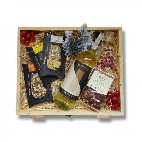 Zestaw upominkowy z włoskim winem białym