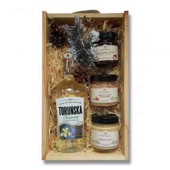 Zestaw upominkowy z wódką Toruńską chrzanową