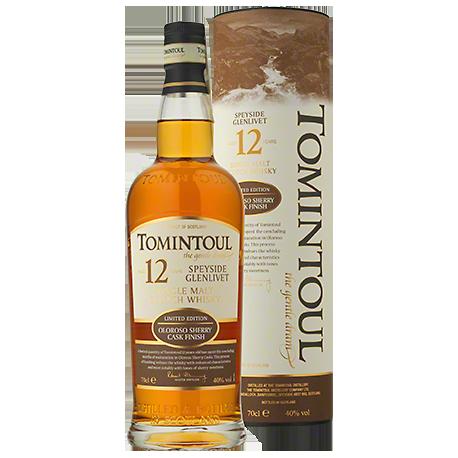 Tomintoul 12YO Oloroso Sherry Single Malt Scotch Whisky