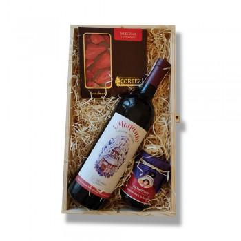 Zestaw upominkowy z winem lokalnym