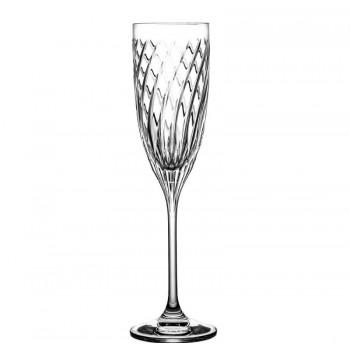 Kieliszki do szampana kryształowe 6