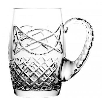 Kufel do piwa kryształowy