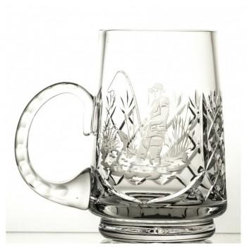 Kufel grawerowany do piwa wędkarz kryształowy