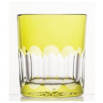 Szklanki kryształowe do whisky- żółte