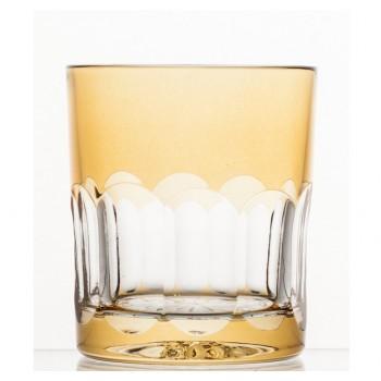 Szklanki kolorowe do whisky- pomarańczowe