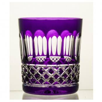 Kryształowe szklanki do whisky- fioletowe