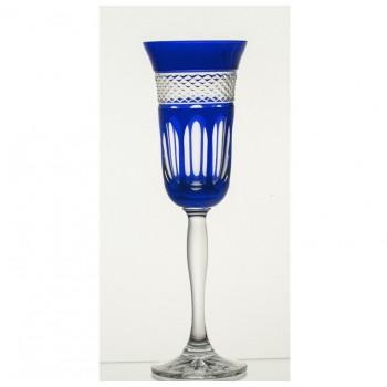 Kieliszki do szampana- niebieskie