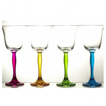 Kolorowe kieliszki do wina- Fluo
