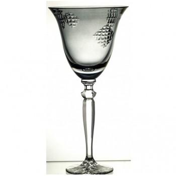 Kieliszek kolorowy do wina kryształowy łatki