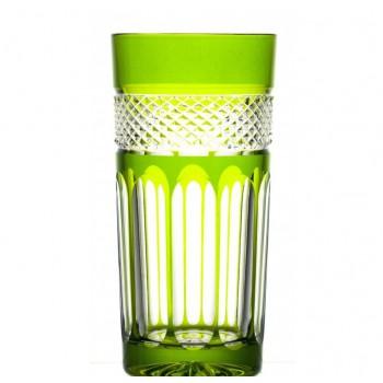 Szklanki long drink kryształowe - olive green