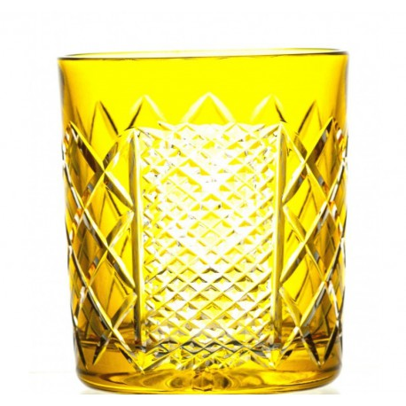 Szklanki kryształowe do whisky- bursztynowe