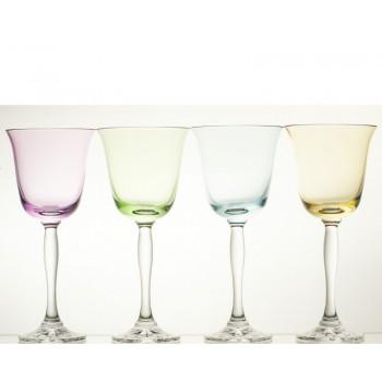 Kieliszki kolorowe do wina- Fluo