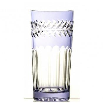Szklanki long drink kryształowe- light fiolet