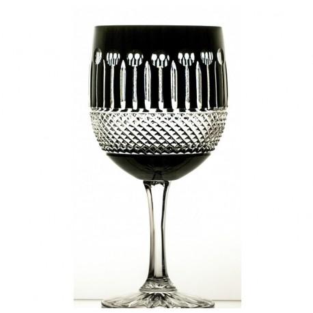 Kryształowe kieliszki do wina- czarne