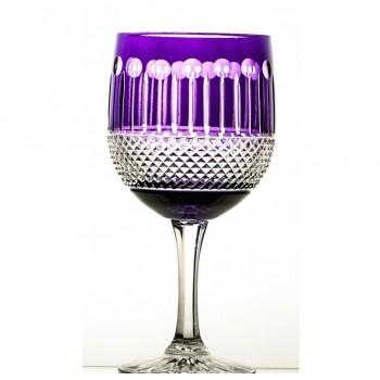 Kryształowe kieliszki- fioletowe