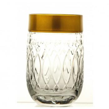 Szklanki  kryształowe ze złotym rantem