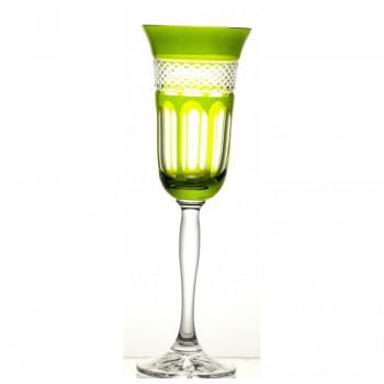 Kieliszki do szampana- oliwkowo-zielone