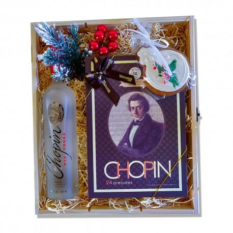 Zestaw upominkowy z wódką Chopin