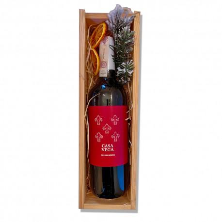 Zestaw upominkowy z czerwonym winem